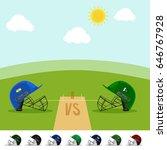 indian vs pakistan cricket... | Shutterstock .eps vector #646767928