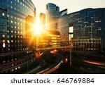 modern buildings in paris... | Shutterstock . vector #646769884