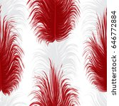 seamless pattern with feathers   Shutterstock .eps vector #646772884