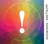 attention icon. attention... | Shutterstock . vector #646776199
