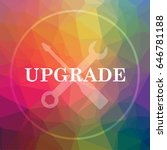 upgrade icon. upgrade website... | Shutterstock . vector #646781188