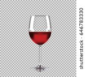 wine glass with red wine ... | Shutterstock .eps vector #646783330