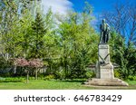 the george washington statue in ... | Shutterstock . vector #646783429