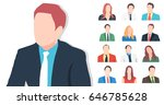 icons of people. vector... | Shutterstock .eps vector #646785628