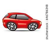 red car.   Shutterstock .eps vector #646786348