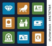 identity icons set. set of 9... | Shutterstock .eps vector #646787464