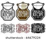 original recipe seal   mark  ... | Shutterstock .eps vector #64679224