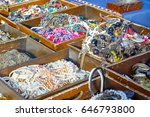 vintage jewellery on display at ...   Shutterstock . vector #646793800