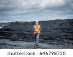 coal mining worker walking... | Shutterstock . vector #646798720