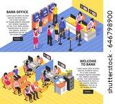 bank office horizontal... | Shutterstock .eps vector #646798900