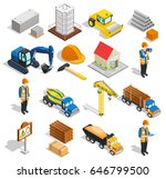 construction isometric icons... | Shutterstock .eps vector #646799500