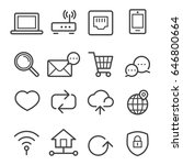 internet thin line icons | Shutterstock .eps vector #646800664