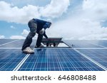 engineer and electrician team... | Shutterstock . vector #646808488