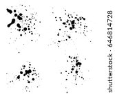set of different grunge vector... | Shutterstock .eps vector #646814728