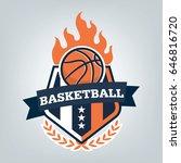 basketball sport logo template... | Shutterstock .eps vector #646816720