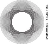 lines in circle form . spiral... | Shutterstock .eps vector #646817458