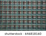 green wire fence on background | Shutterstock . vector #646818160