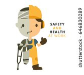 construction worker  accident... | Shutterstock .eps vector #646830289
