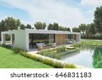 3d Rendering. House With An...