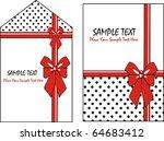 gift card set | Shutterstock .eps vector #64683412