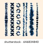 set of tie dye art brushes.... | Shutterstock .eps vector #646834840