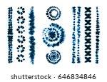 set of tie dye art brushes.... | Shutterstock .eps vector #646834846