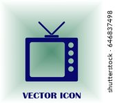 tv icon in trendy flat style....