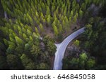 Aerial View Of A Road In The...
