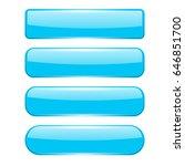 blank blue menu buttons. vector ... | Shutterstock .eps vector #646851700