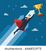 a businessman with red cape to... | Shutterstock .eps vector #646851973
