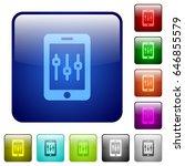 smartphone tweaking icons in... | Shutterstock .eps vector #646855579