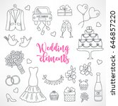 contour wedding design elements.... | Shutterstock .eps vector #646857220