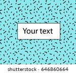 vector simple background with... | Shutterstock .eps vector #646860664