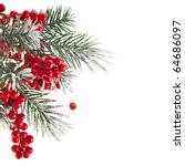 Christmas Fir Twig With Red...