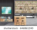 modern flat design kitchen bar... | Shutterstock .eps vector #646861240