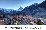 panoramic view of the famous... | Shutterstock . vector #646862974