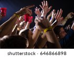 group of people dancing at a... | Shutterstock . vector #646866898