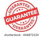 guarantee vector stamp. grunge...   Shutterstock .eps vector #646872124