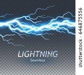 seamless asset of lightening... | Shutterstock .eps vector #646875556
