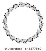 black and white round label... | Shutterstock . vector #646877560