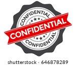 confidential stamp vector.... | Shutterstock .eps vector #646878289