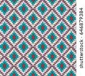 seamless hand drawn tribal... | Shutterstock .eps vector #646879384