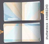 brochure template with abstract ... | Shutterstock . vector #646882243