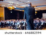 speaker giving talk at business ... | Shutterstock . vector #646882594