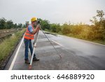 young man engineer is using... | Shutterstock . vector #646889920