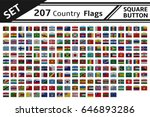 207 countries flags square... | Shutterstock .eps vector #646893286