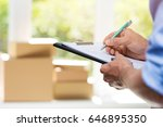 logistics   delivery service... | Shutterstock . vector #646895350