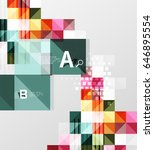 vector square elements on gray...   Shutterstock .eps vector #646895554