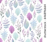 seamless delicate pattern with... | Shutterstock .eps vector #646896664