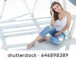 beautiful woman | Shutterstock . vector #646898389
